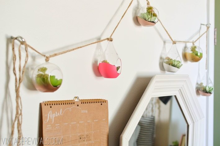 Dipped Succulent Garland vintagerevivals.com