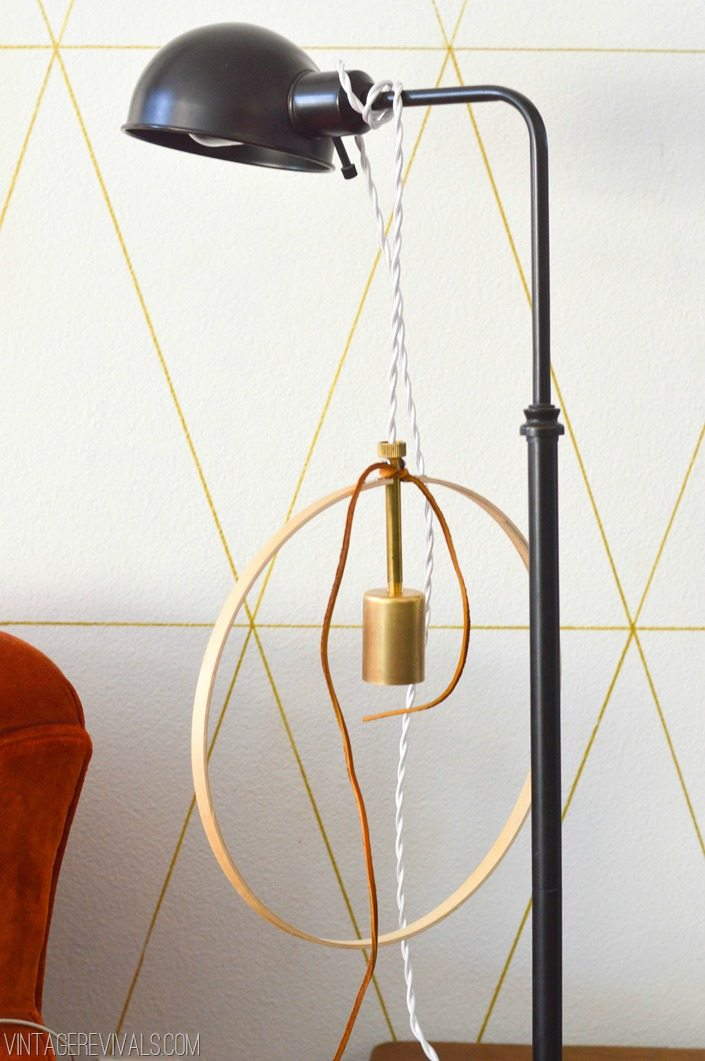 Simple Brass Hoop Light Tutorial Step 11 vintagerevivals.com