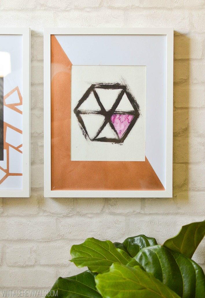 Watercolor Hexagon Art