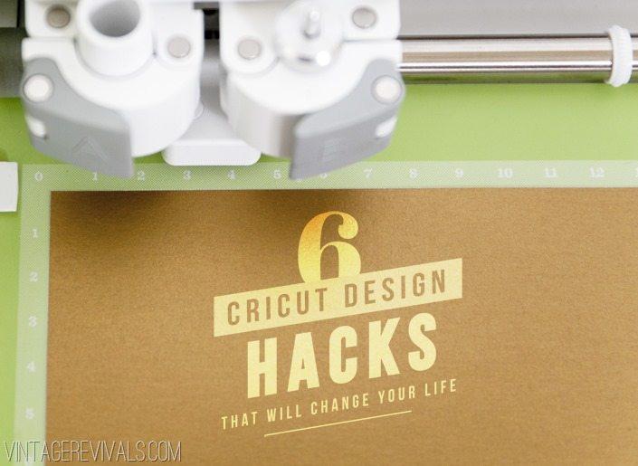 6 Cricut Explore Design Hacks • Vintage Revivals