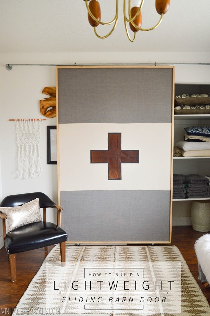 how to build a lightweight sliding barn door vintage. Black Bedroom Furniture Sets. Home Design Ideas