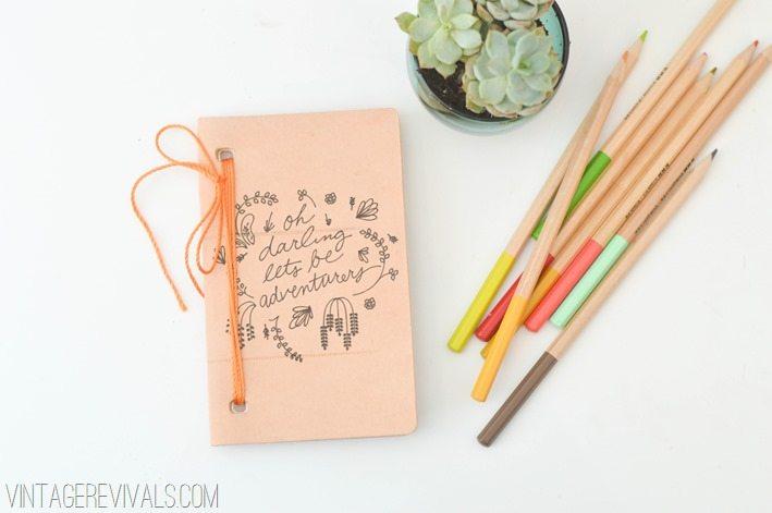 Leather Notebook vintagerevivals.com