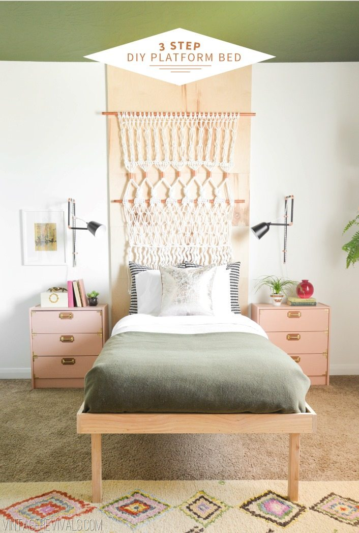 ... Revivals | How To Build A Platform Bed In 3 Steps! (No, Seriously