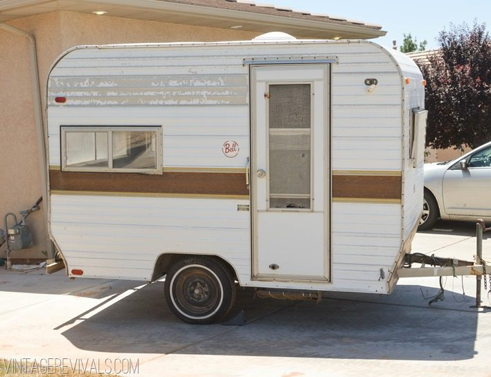 Pin Old Camper Trailers Upholstery Awnings