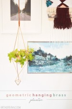 DIY Geometric Hanging Brass Planter