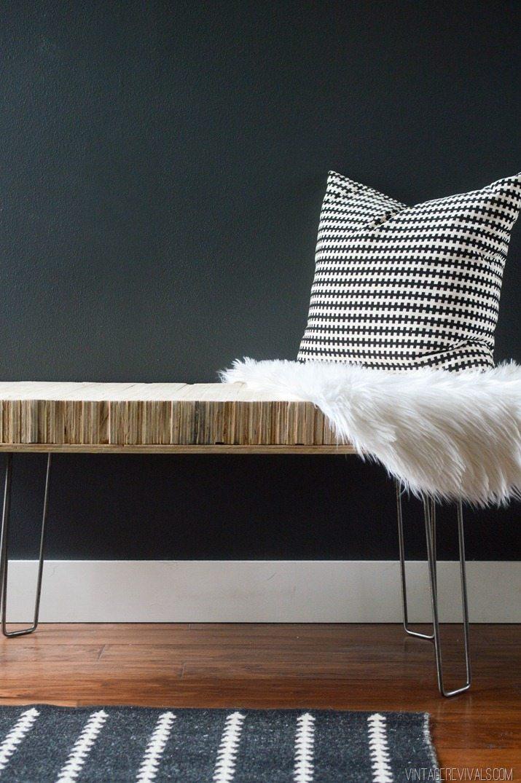 DIY Stacked Plywood Bench vintagerevivals.com-10