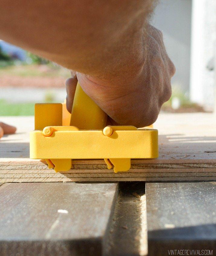 DIY Stacked Plywood Bench vintagerevivals.com-17