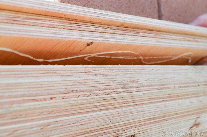 DIY Stacked Plywood Bench vintagerevivals.com-22