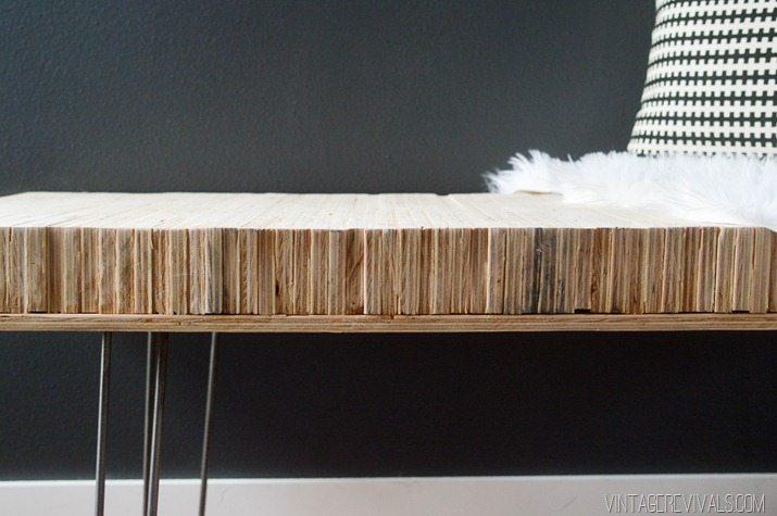 DIY Stacked Plywood Bench vintagerevivals.com-8