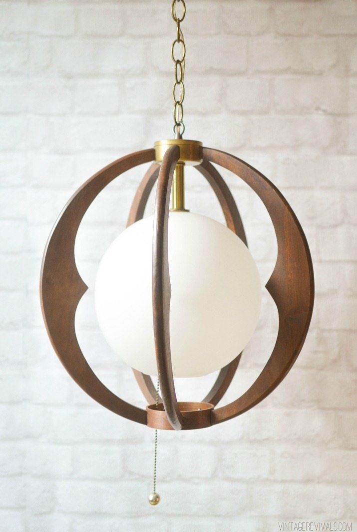 Mid Century Hanging Light