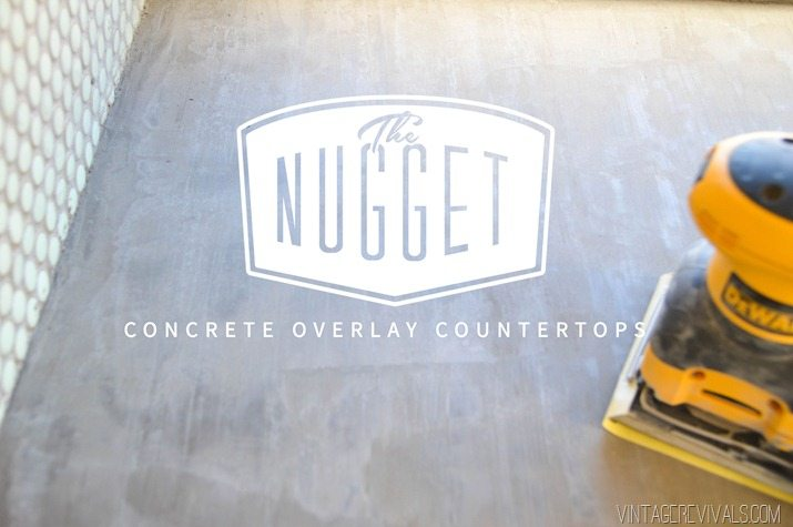 vintage trailer renovation concrete overlay countertops