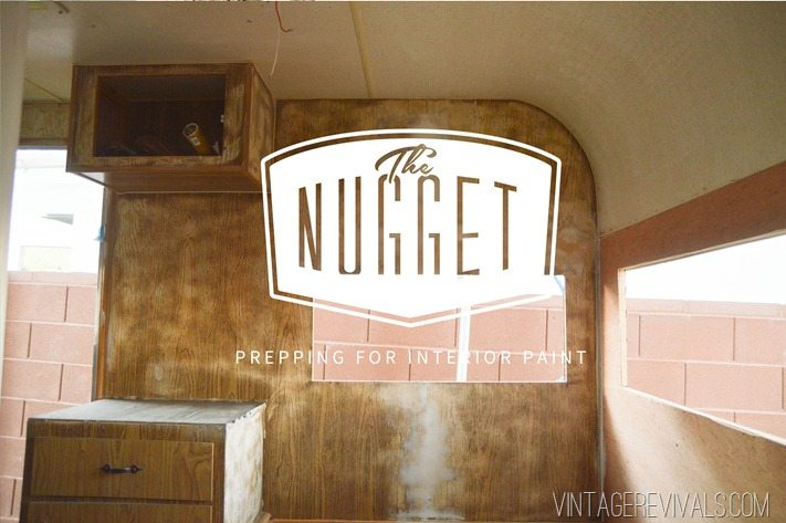 Vintage Trailer Renovation Interior Painting Prep Vintagerevivals
