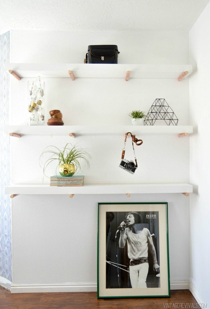 DIY Copper Peg Shelf Tutorial vintagerevivals.com