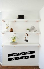 DIY Copper Peg Shelves