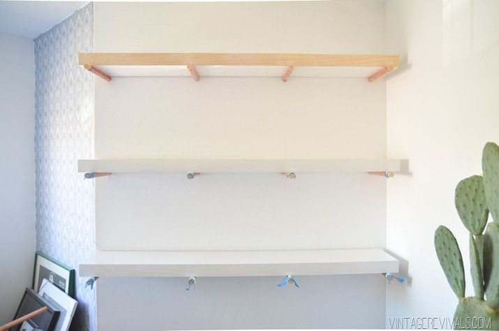 DIY Copper Peg Shelves vintagerevivals.com-2