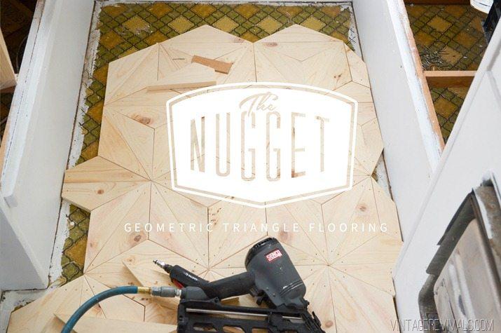 DIY Geometric Triangle Flooring vintagerevivals