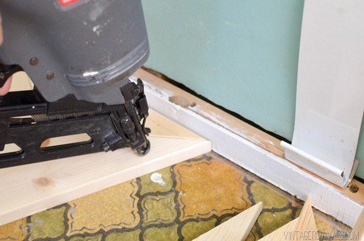 DIY Geometric Wood Floor vintagerevivals.com-10