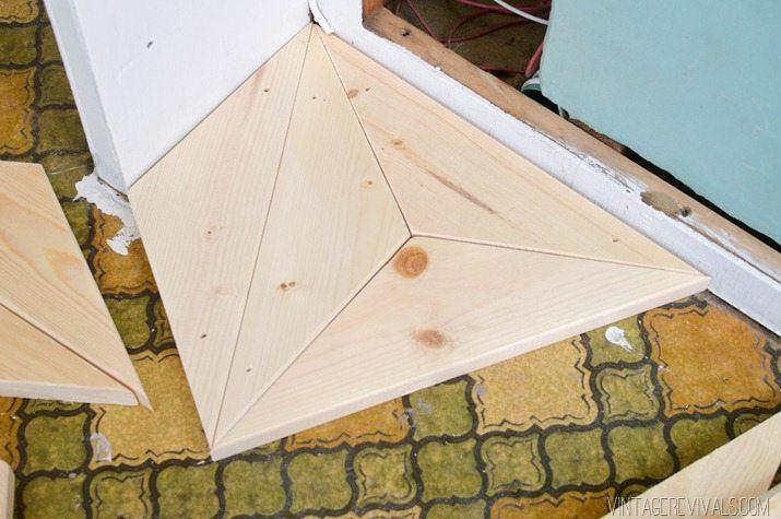 DIY Geometric Wood Floor vintagerevivals.com-9