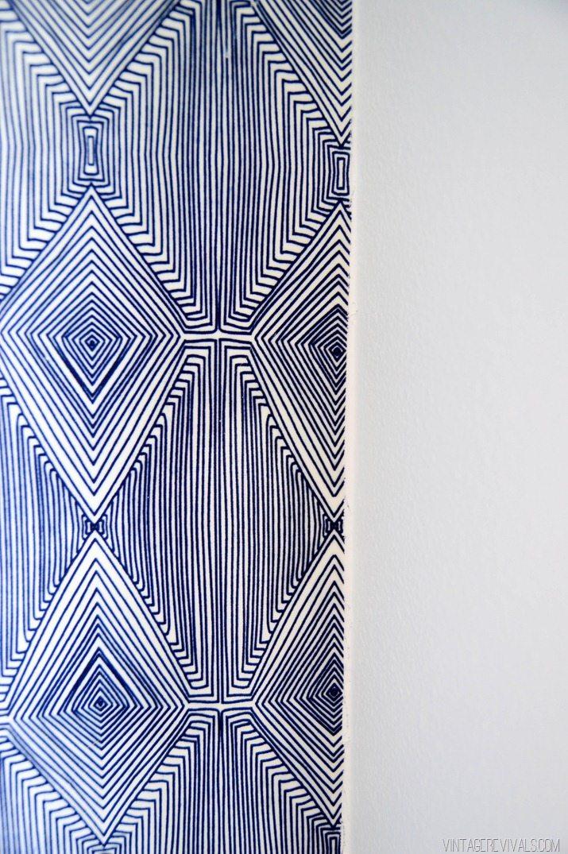 Fabric Wall Paper : Diy temporary fabric wallpaper vintage revivals