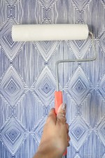 DIY Temporary Fabric Wallpaper