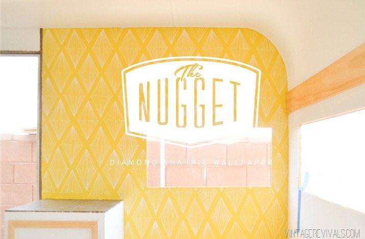 The Nugget: Retro Diamond Sharpie Wall Pattern • Vintage Revivals