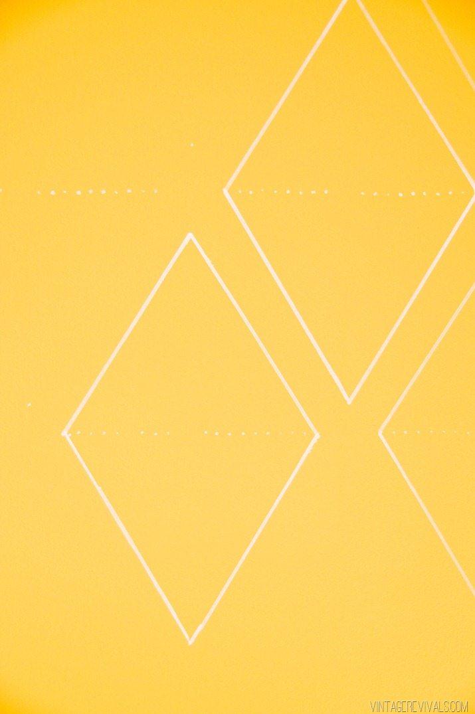 Geometric Diamond Sharpie Wallpaper vintagerevivals.com-2