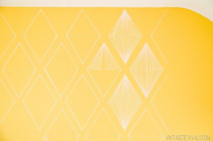 Geometric Diamond Sharpie Wallpaper vintagerevivals.com-4