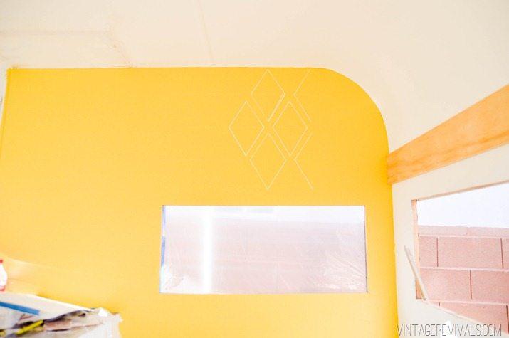 Geometric Diamond Sharpie Wallpaper vintagerevivals.com