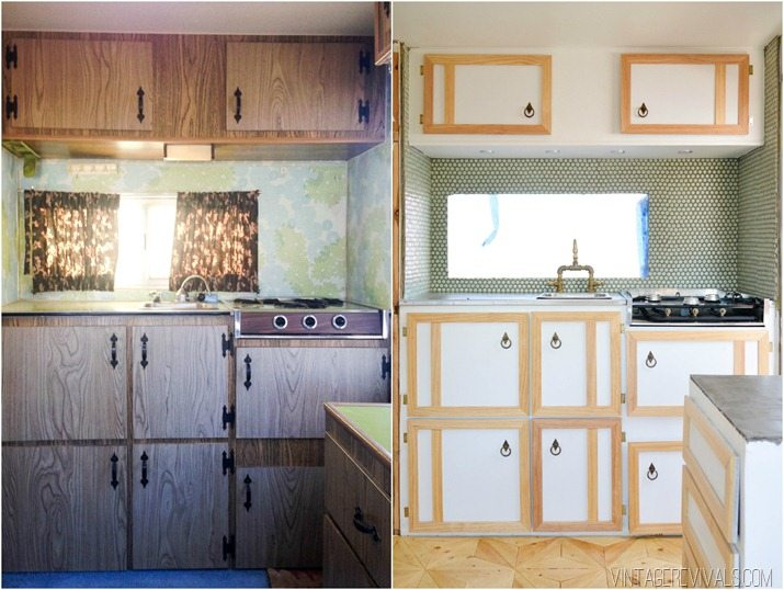 Particle Board Kitchen Cabinet Makeover Painting