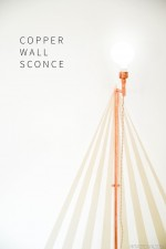 Fall Color Challenge: Copper Wall Sconce