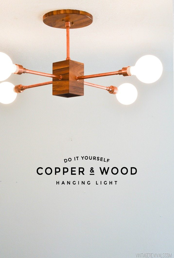 Diy Wood And Copper Hanging Light Vintagerevivals