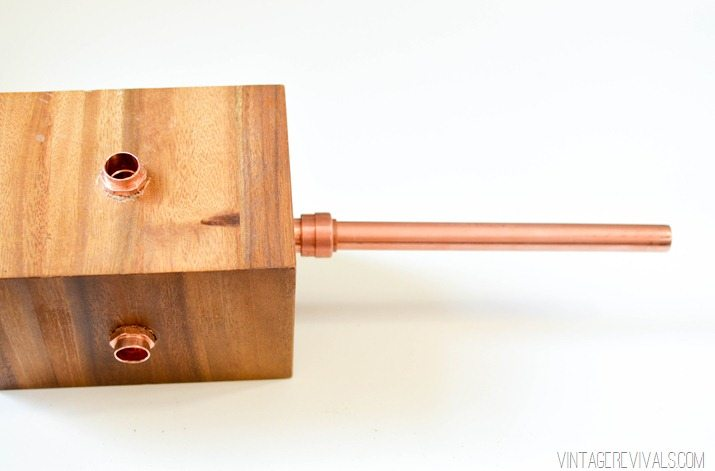 DIY Wood and Copper Modern Chandelier-8