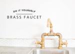 DIY Brass Bridge Faucet