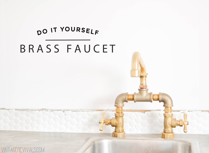 Bathroom Faucets That Say Hot And Cold diy brass bridge faucet - vintage revivals
