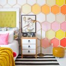 Honeycomb Wall Makeover
