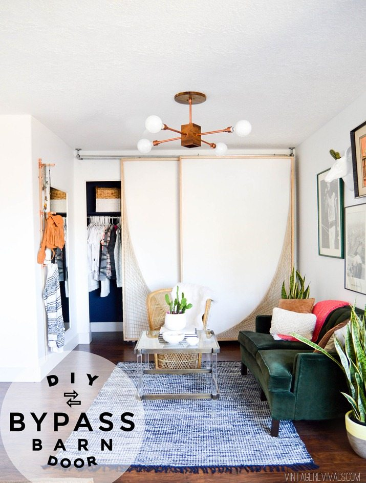 Diy Bypass Barn Door Hardware diy bypass barn doors |part 1 - vintage revivals