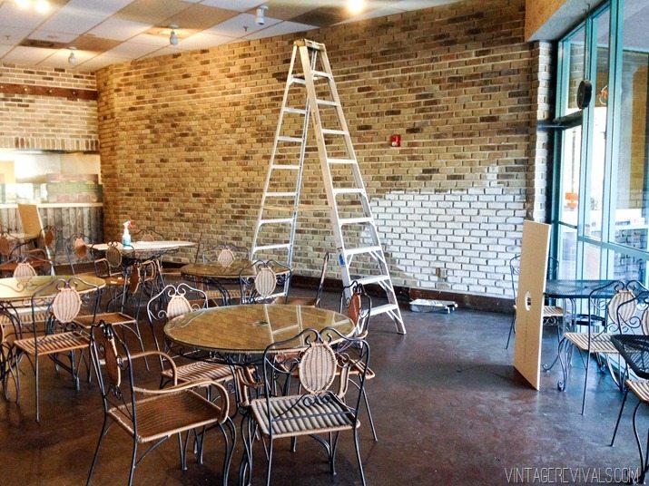 White Brick In Restaurant