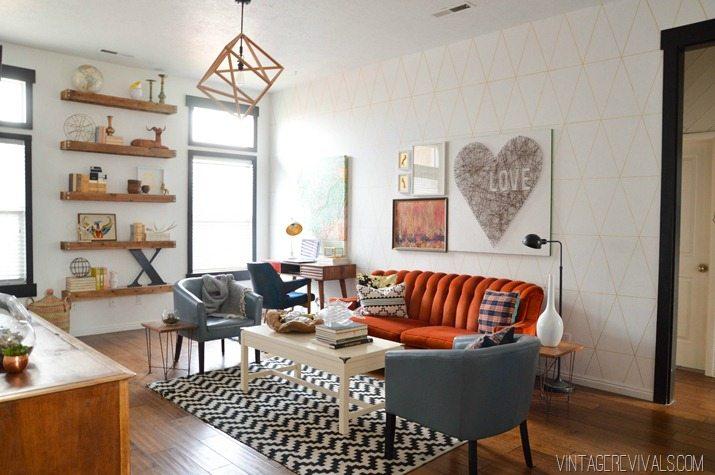 Living Room Makeover Vintage Revivals 2