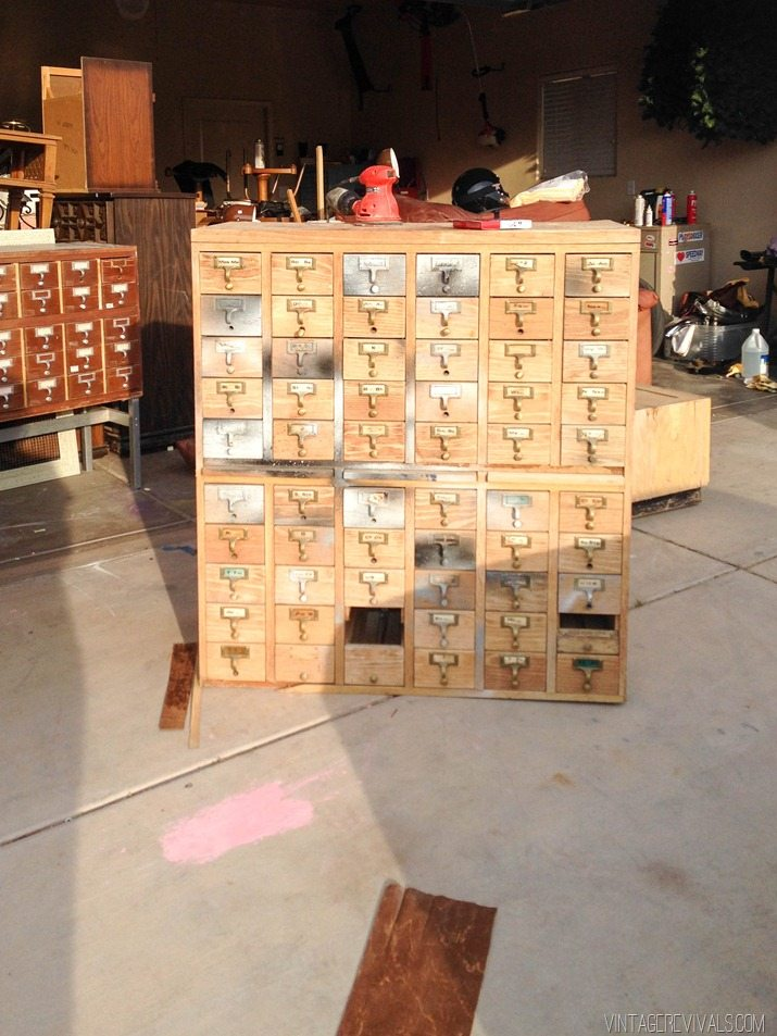 Rescuing A Craigslist Card Catalog Vintage Revivals