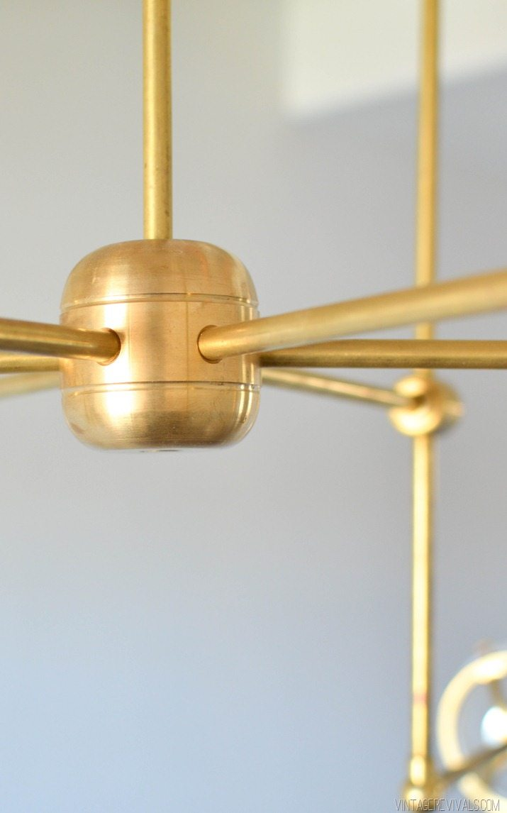 DIY Brass Bent Arm Chandelier-34