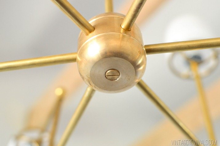 DIY Brass Bent Arm Chandelier-35