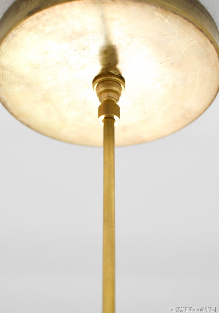 DIY Brass Bent Arm Chandelier-39