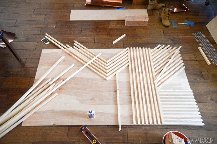 DIY Modern Square Dowel Art-3