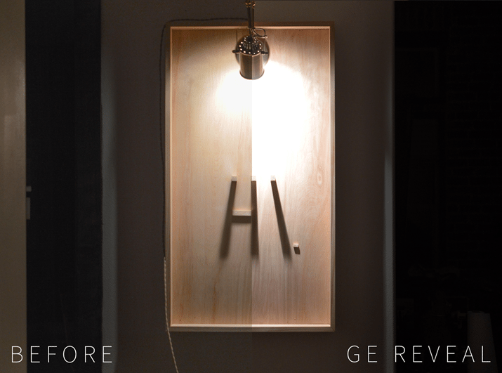 DIY Shadow Art GE Reveal Before And After Vintagerevivals