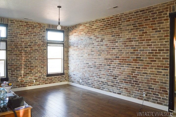 Installing brick veneer inside your home vintage revivals for Interior brick veneer