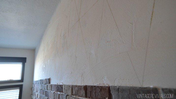 Installing brick veneer inside your home vintage revivals for Glue on brick veneer