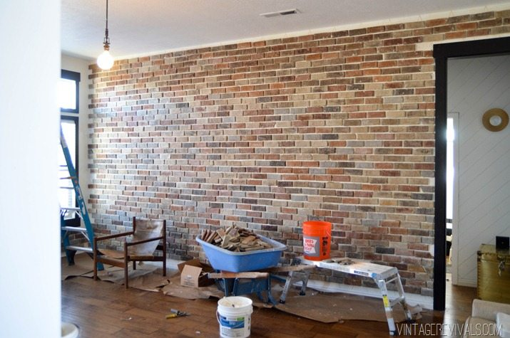 Installing brick veneer inside your home \u2022 vintage revivals on install electrical outlet brick wall Duplex Outlets Wiring in Series How Do I Power Up Light Switch with an Outlet A