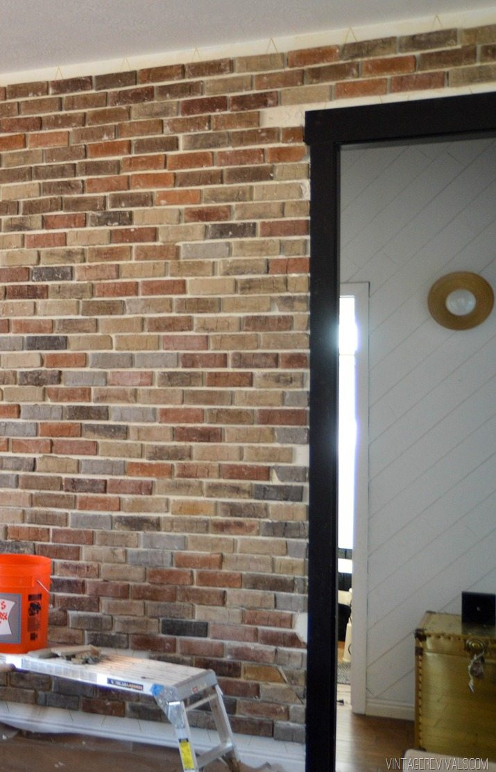 How to install brick veneer inside your home-6