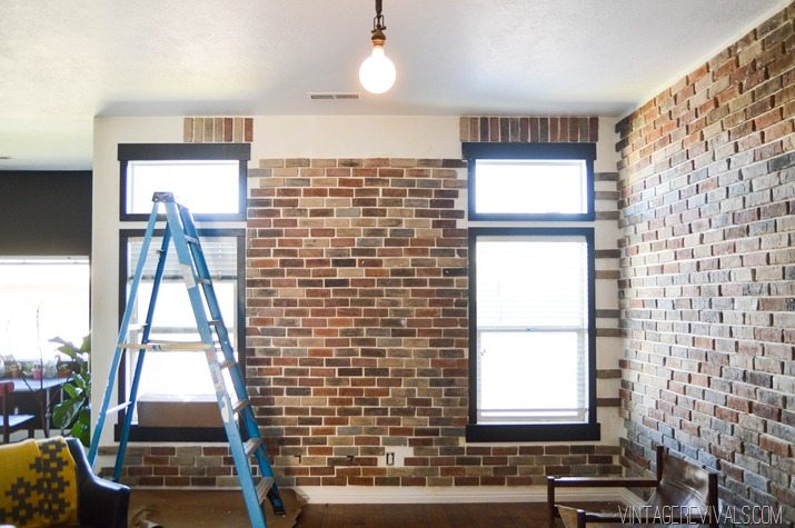 Installing brick veneer inside your home \u2022 vintage revivals on install electrical outlet brick wall Basic Electrical Outlets Power to Switch From a Two Combo Switch and Electrical Diagram Series
