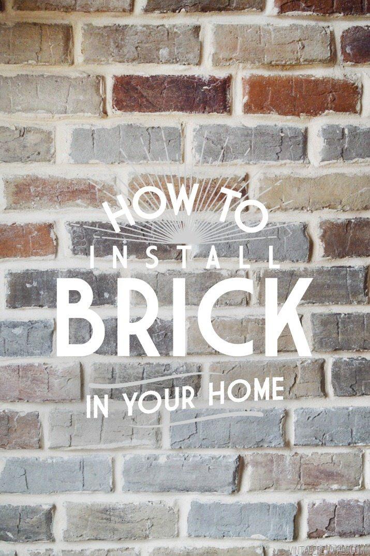 Grouting Brick Veneer Vintage Revivals - Aged brick veneer